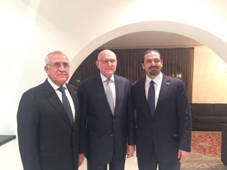 Former-Pr-Minister-Saad-Hariri-meets-Pr-Minister-Tammam-Salam-Former-pr-Michel-Sleiman-[1]