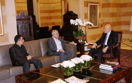 Pr-Minister-Tammam-Salam-meets-Minister-Ali-Hassan-El-Khalil-Minister-Hussein-Hajj-Hassan-[1]
